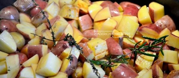 Cuisson des pommes de terre variété chérie rissolées au thym et romarin - recette de légumes