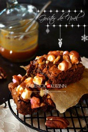 Dégustation brownie au chocolat rocky road pour le goûter de noël - Recette pour Vahiné
