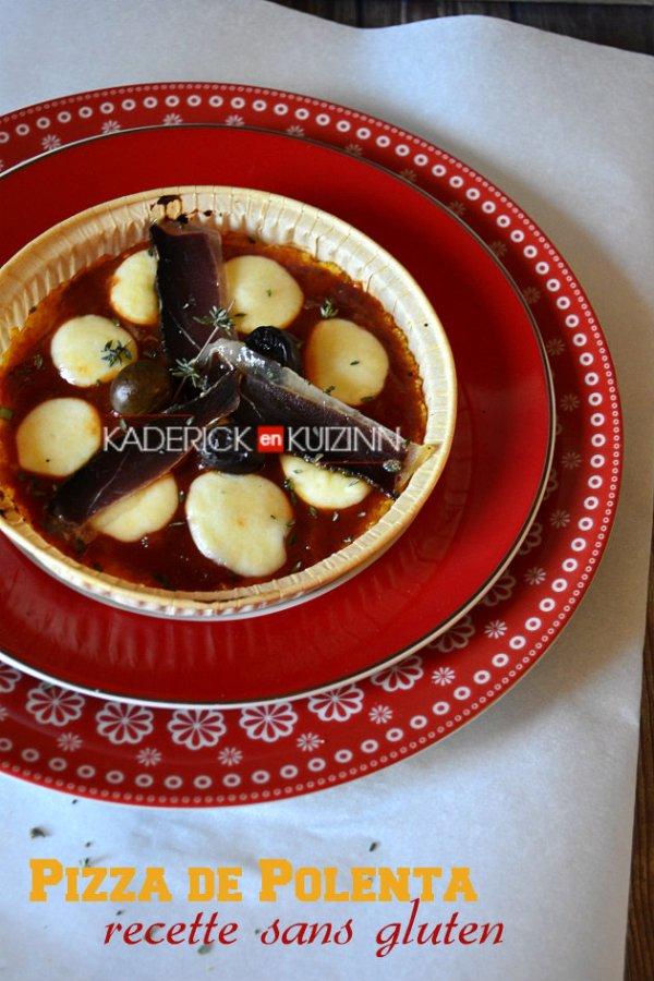 Dégustation recette sans gluten pizza polenta aux magrets séchés - recette de cuisine Italienne
