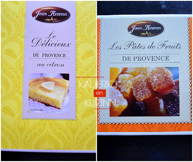Gâteau au citron, pâtes de fruits de Provence marque partenariat Jours Heureux