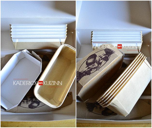 Partenariat Cooking box - Moules en carton bio food pack pour les cakes offert par Gault & Frémont