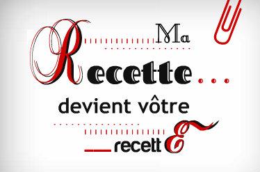 Logo recette mise à l'honneur sur mon blog