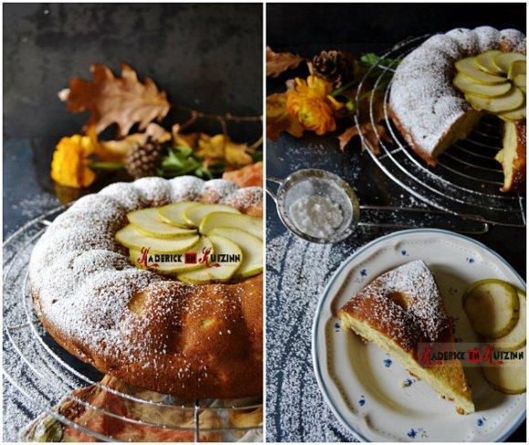 Recette du moelleux aux pommes, poires, amandes - Recette pour Culino Versions