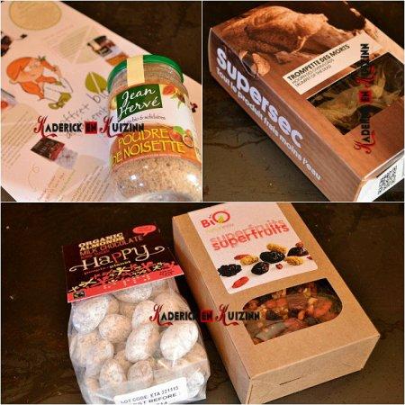 Delibox, la box bio avec de la poudre de noisette Jean Hervé, champignons et fruits secs - recette bio