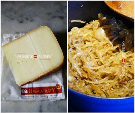 Ingrédients avec l'ossau iraty offert en partenariat avec la box fromage - recette fromage