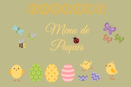 Logo dossier menu recettes paques