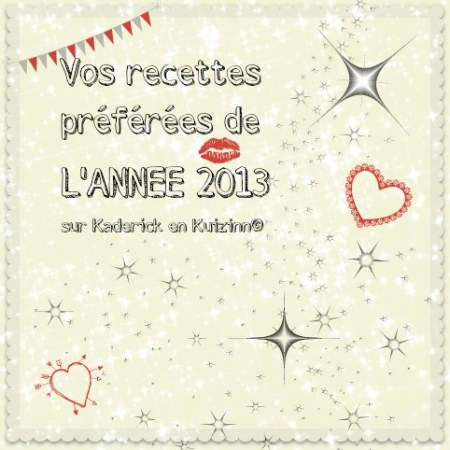 Logo vos recettes preferees annee 2013