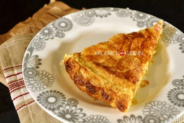 Part galette des rois à la crème frangipane la recette du chef Simon