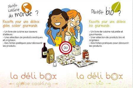 Recette de la deli box avec la présentation de la box bio et de la box globe cooking