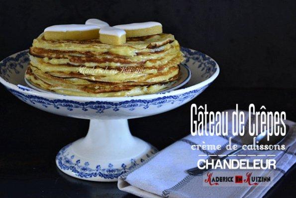 Chandeleur - Recette gâteau de crepes à la crème de calissons provençaux faite maison - recette chandeleur