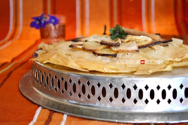 Recette tarte fine à la pâte filo et pommes pour Culino Versions