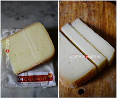 Ingrédient de la recette fromage avec des triangles panés d'ossau-iraty - recette partenariat