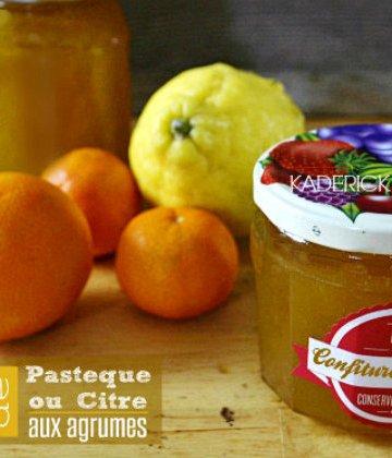 Recette confiture d'hiver de pastèque ou citre aux agrumes bio