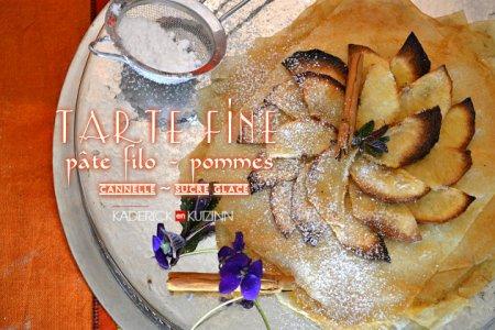 Recette tarte fine à la pâte filo et pommes bio pour Culino Versions