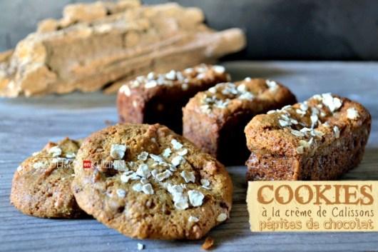 Cookies bars - Recette cookies à la crème de calisson et pépites de chocolat