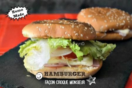 Hamburger plancha - recette d'Hamburger façon croque monsieur