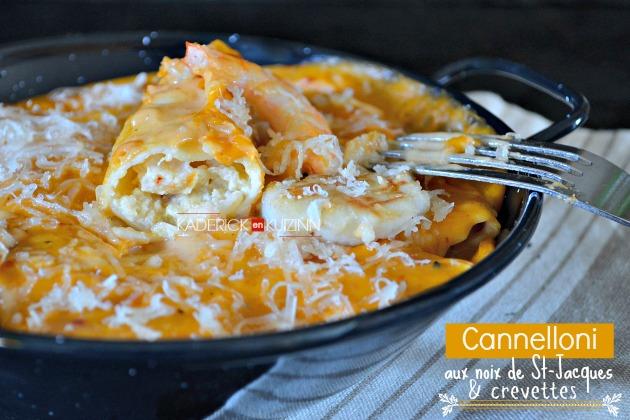 Recette cannelloni cannelloni aux st jacques crevettes et parmesan - Cuisine italienne cannelloni ...