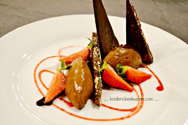 Partenariat Logis de France avec un diner au Mas de Luzières et dessert chocolat