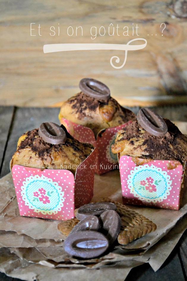 Recette gouter muffins aux spéculoos et double chocolat lait et noir