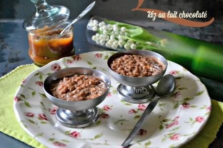 Recette riz au lait chocolaté ou riz au caramel beurre salé