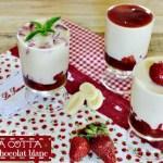 Panna cotta chocolat blanc aux fraises et partenariat Ducros