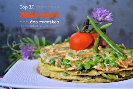 Mai 2014 – Top 10 des recettes du mois de Mai 2014