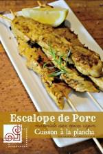 Escalope porc - Cuisson plancha brochette d'escalope porc aux épices cajun Cuisine plancha