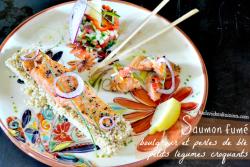 Saumon salade - Saumon fumé boulghour et tartare légumes