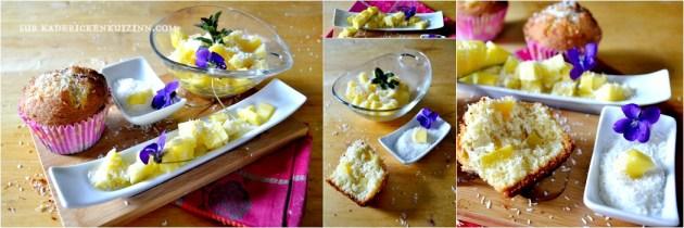 Muffins exotique - Recette muffins à la mangue fraîche et noix de coco râpée