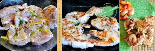 Plancha cigaline - Araignée ou cigaline de porc marinade à la provençale