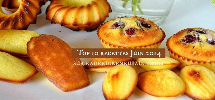 Juin 2014 – Logo Top 10 des recettes du mois de Juin 2014