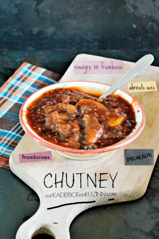 Chutney recette - Chutney aux pruneaux abricots secs et framboises bio - jour 20 calendrier de l'avent