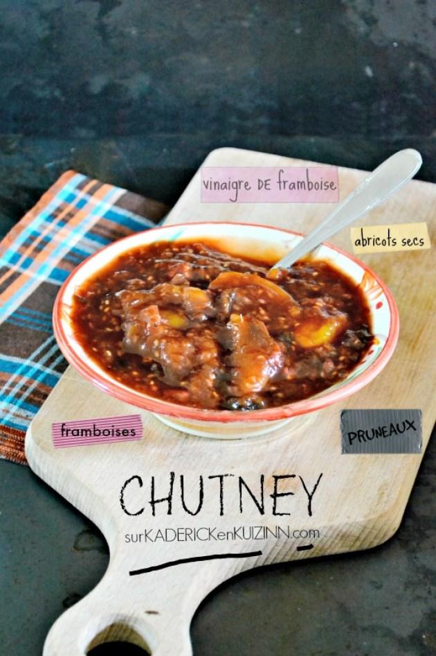 Chutney recette - Chutney aux pruneaux abricots secs et framboises bio