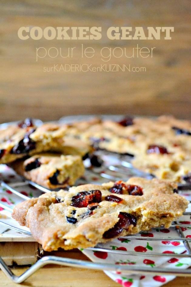 Cookies geant - Recette saine cookies aux cranberries bio et son d'avoine
