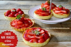 Recette fraise - Tartelettes fraises et crème mousseuse vanille