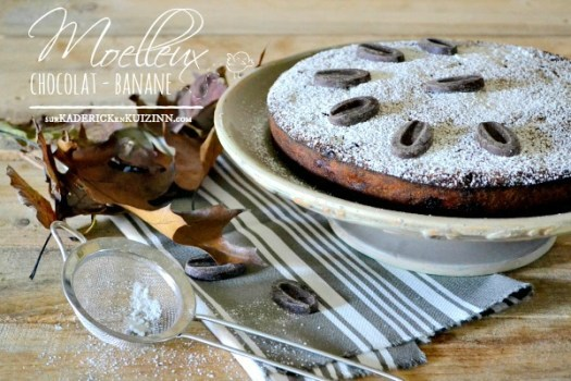 Recette banane - Gâteau moelleux chocolat banane amande