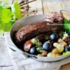 Plancha veau - Onglet de veau vendangeur aux raisins et xérès