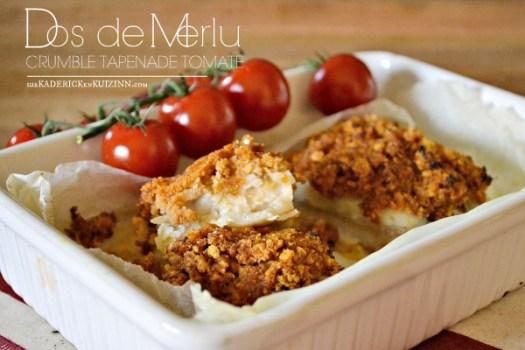 Recette four - Dos de merlu en crumble de tapenade tomate