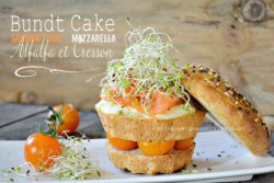 Brunch - Bundt cake saumon mozzarella et pousses d'alfalfa