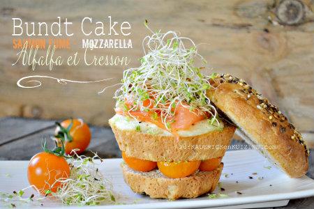Brunch - Bundt cake saumon mozzarella et pousses d'alfalfa