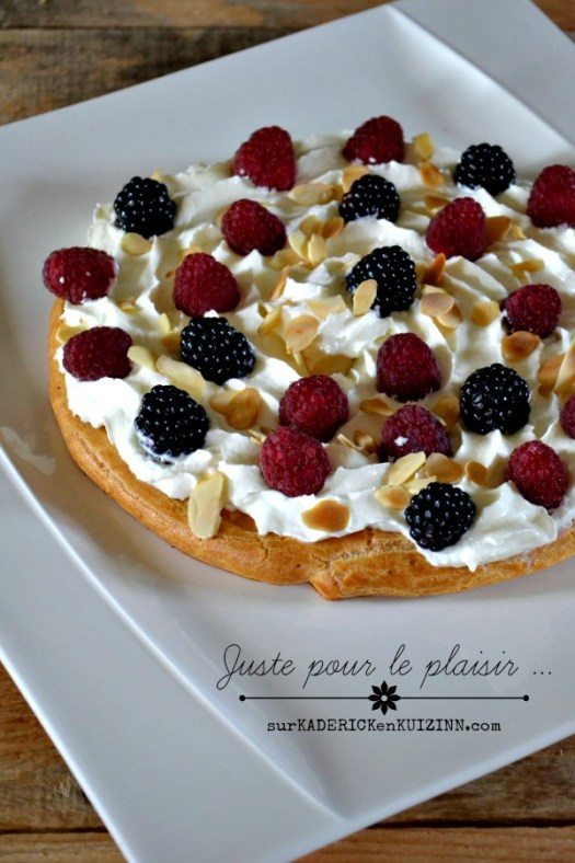 Tarte pate choux - Tarte chantilly mascarpone et fruits rouges