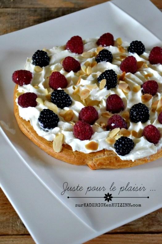 Tarte pate choux - Tarte chantilly mascarpone et fruits rouges