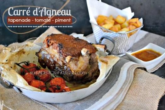 Plancha agneau - Carré d'agneau tapenade tomate et piment