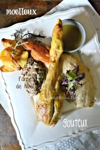Chapon farci - Recette chapon fermier de noël farci au foie gras de Frais d'Ici - Kaderick en Kuizinn©
