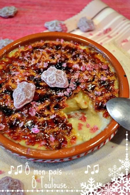 Creme catalane à la violette givrée de Toulouse sur Kaderick en Kuizinn.com©