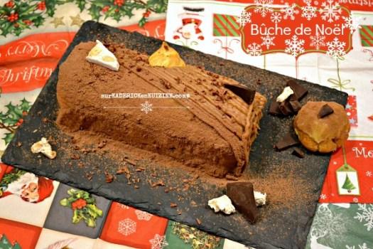 Recette buche - Bûche de Noël nougat éclair chocolat|Kaderick