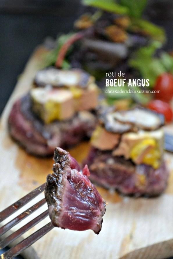 Plancha roti - Tournedos rôti de bœuf angus Rossini foie gras et cèpes - Kaderick en Kuizinn.com