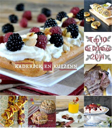 Recette 2014 - Top 10 des recettes de l'année 2014 - Kaderick en kuizinn
