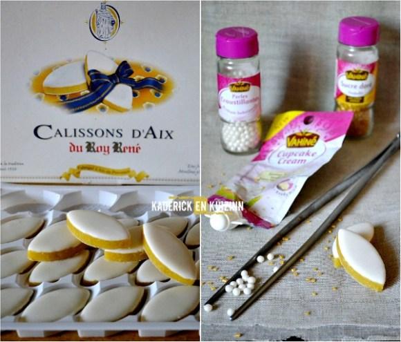 Recette cupcakes aux calissons d'Aix et glaçage vanille - Kaderick en Kuizinn