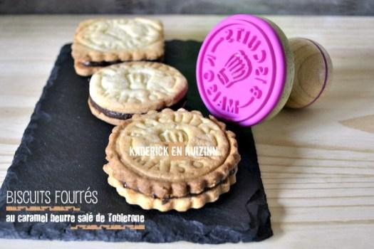 Biscuits fourres au caramel beurre salé au Toblerone - Kaderick en Kuizinn